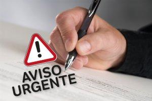 AVISO URGENTE: Presentación de escritos y demandas